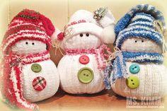 Handmade Sock Snowmen Tutorial