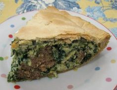 16 Easy Make-Ahead Main Dish Dinner Pies: (Italian Sausage Pie - shown on photo)