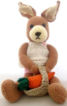 How to make Knitted Mrs Easter Bunny - DIY Craft Project from Craftbits.com