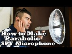 How To Make Spy Microphone!  Super spy microphone made from plastic parabolic dish,old game fun for handle and earbuds with mic and all this work on your smartphone.