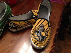 Hand Painted Hufflepuff Shoes