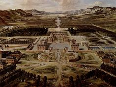 iew of Versailles from the Avenue de Paris, ca. 1662 by Pierre Patel. This was how Versailles looked before Louis XIV began enlarging the château. Chateau Versailles, Versailles Garden, Visit Versailles, Louis Xiv, Roi Louis, French History, Art History, Palaces, Versailles
