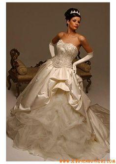 A-Lijn/prinses riemless Kapel Trein vanganza taf Jurken fvan bruids