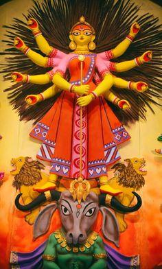 My Entertainment Rocks: Awesome Artwork Of Maa Durga Durga Picture, Maa Durga Photo, Maa Durga Image, Durga Puja Kolkata, Kali Puja, Maa Durga Hd Wallpaper, Durga Painting, Durga Maa Paintings, Ganpati Bappa Wallpapers