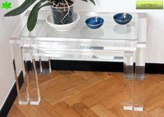 Tavolino angolare ~ Tavolini in plexiglas angolari tavolino trasparente in plexiglas