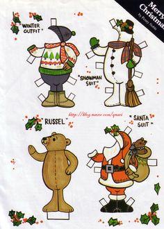 종이인형 (크리스마스 곰돌이) : 네이버 블로그
