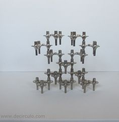12 BMF orion candle holders design vintage stackable by decirculo