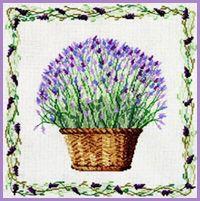 DMC Lavender Basket  free chart