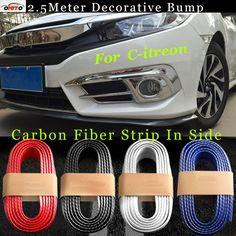 Best Match 250cm auto bumper carbon fiber Rubber protection Anti-collision car strips For PicassoC2/C3/C4C5/C6/C8 #Affiliate