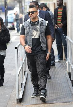 """Temperature"" reggae artist Sean Paul leaves the BBC Radio 1 studios on March 2012 in London, UK. Sean Paul, Bbc Radio 1, Music Station, The Man, Rapper, Overalls, Songs, Studio, Fashion"