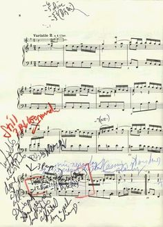 J.S.Bach, Goldberg Variation n.2, score with notes by Glenn Gould