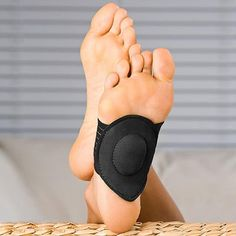 Cushioned Orthotic Arch Support Pads help ease the pain caused by Flat Feet and Arthritis! These 'semi-socks' provide you with all the support and comfort you need for tired, achy feet. What Is Plantar Fasciitis, Plantar Fasciitis Support, Fallen Arches, Flat Feet, Heel Pain, Foot Pads, Trends, How To Relieve Stress, Braces