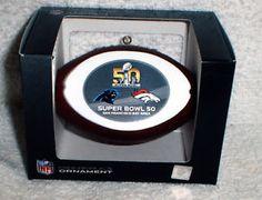 Super Bowl 50 Christmas Ornament Carolina Panthers vs Denver Broncos New | eBay