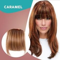 The perfect way to add bangs to your hairstyle without permanently cutting your hair. This is a great solution to test drive bangs or just to change up your daily style! One Piece Hair Extensions, Hair Extensions For Sale, Light Ash Blonde, Caramel Blonde, Hair Transformation, Platinum Blonde, Hairstyles With Bangs, Textured Hair, Face Shapes