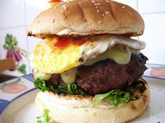 an Aussie hamburger with the lot!