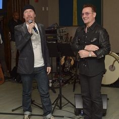 Bono and The Edge from U2 at The Weinstein Company Party to Support U2's Original Song Ordinary Love for Mandela: Long Walk to Freedom, at the Sunset Marquis Hotel January 6, 2014, West Hollywood California. /// More pictures http://u2newsactualite.tumblr.com/post/72671503890/bono-and-edge-from-u2-at-the-weinstein-company + http://u2newsactualite.tumblr.com/post/72671430405/bono-and-edge-from-u2-at-the-weinstein-company #u2NewsActualite  http://the-angel-of-harlem.tumblr.com/