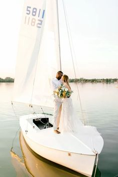Simple Romantic Sunset Sailboat Elopement Inspiration – Lyndi Ruth Photography 19 Create a smooth sailing marriage by starting with eloping on a boat. #bridalmusings #bmloves #weddinginspiration #weddinginspo #inspiration #boat Bridal Musings, Elopement Inspiration, Sailboat, Unique Weddings, Sailing, Marriage, Smooth, Romantic, Wedding Ideas