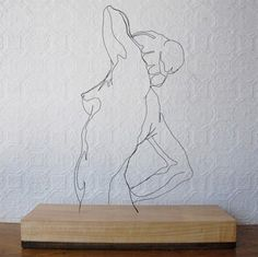 Fil de fer. wire sculptures by gavin worth