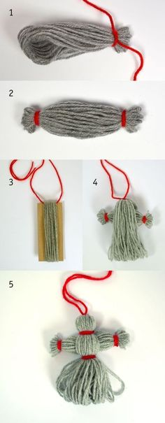 I den luckan hittar vi Tomtemor och Tomtegubben. Swedish Christmas, Christmas Crafts For Kids, Yarn Crafts, All Things Christmas, Simple Christmas, Holiday Crafts, Diy And Crafts, Christmas Decorations, Christmas Ornaments