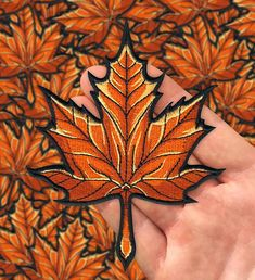 Maple Leaf Embroidered Patch