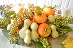 Thanksgiving Centerpieces, Thanksgiving Crafts, Table Centerpieces, Centerpiece Ideas, Indian Kitchen, Dining Decor, Flower Vases, Table Settings, Place Settings