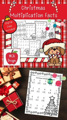 This product features various worksheets to help your students practice multiplication math facts. This packet is designed to be used as mini-lessons, supplements to larger lesson plans, extra practice, or as a math center. Each worksheet focuses on basic multiplication facts and are accented with fun Christmas graphics. This product includes both a print and DIGITAL copy. The digital copy is great for DISTANCE LEARNING! #teacherspayteachers #tpt