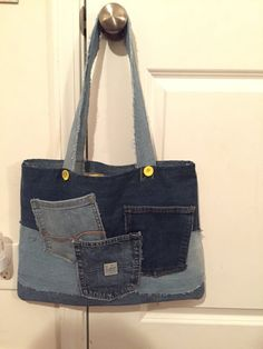 Denim Upcycled Tote