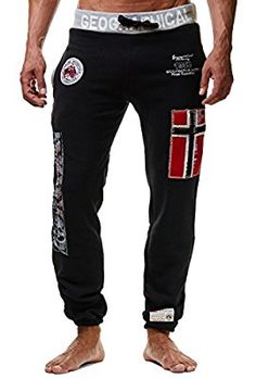 Geographical Norway Myer Pantaloni da jogging da uomo, ideali per il tempo libero nero Medium: Amazon.it: Sport e tempo libero