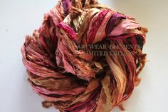 Sari Silk, Harvest Spice, Fair Trade, 5 Yards, OOAK Silk Canvas Series, Textile, Unique Ribbon, Silk Ribbon, Art Yarn, Artwear Elements 147