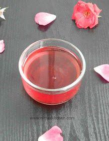 Nitha Kitchen: Homemade Rose Syrup using fresh Rose Petals