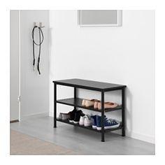 PINNIG Bänk med skoförvaring, svart - IKEA