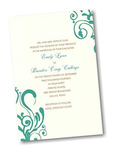 Create Your Own Wedding Invitation Suite 38