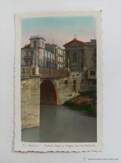 Fotografía antigua: BONITA FOTO POSTAL. MURCIA. PTE VIEJO Y VGEN DE LOS PELEGRINOS. Nº 70 - Foto 1 - 55058566