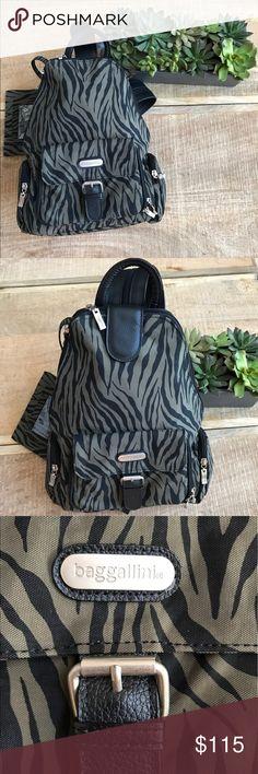 Like New BAGGALINI Backpack in 😎Olive Zebra😎 Timeless Animal Print 😎in  great shade 08beb9518d57c