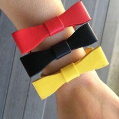 Black Bow Faux Leather Bracelet Black bow faux leather bracelet by T&J Designs! Now available! T&J Designs Jewelry Bracelets