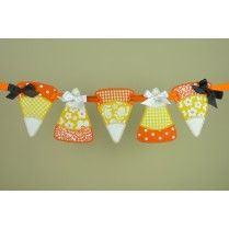 Candy Corn Banner In The Hoop Machine Embroidery Project