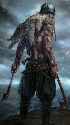 If you are a Viking enthusiast, you stand the possibility of having heard about the Viking berserkers. If you are … Read MoreWho were the Viking berserkers in Viking age Dark Fantasy Art, Fantasy Rpg, Medieval Fantasy, Viking Life, Viking Art, Viking Warrior Men, Viking Character, Character Art, Tattoo Avant Bras