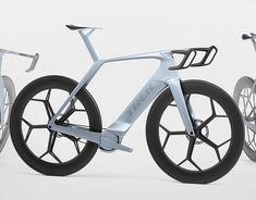 2016 Trek Madone 9 on Behance Velo Design, Bicycle Design, Trek Bikes, Cycling Bikes, Funny Inventions, Electric Bicycle, Electric Vehicle, Hover Bike, Trek Madone