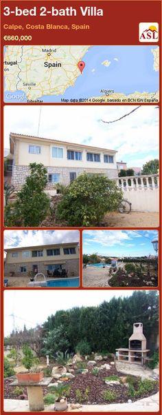 3-bed 2-bath Villa in Calpe, Costa Blanca, Spain ►€660,000 #PropertyForSaleInSpain