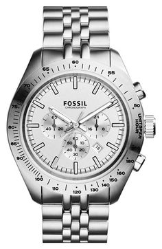 Fossil 'Edition Sport' Chronograph Bracelet Watch, 45mm available at #Nordstrom