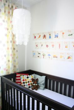 Definitely going to give this a go: Flash Cards as wall art in nursery