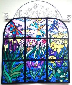Stained Glass Spring Wall Hanging