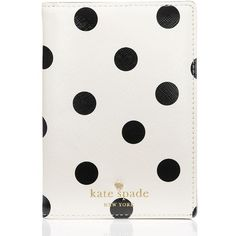 Kate Spade Cedar Street Dot Passport Holder ($55) ❤ liked on Polyvore featuring bags and luggage