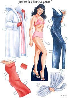 Bettie Page - Bruce Patick Jones - Бумажные куклы - Каталог статей - Бумажные куколки Disney Paper Dolls, Paper Art, Paper Crafts, Pin Up Photos, Dover Publications, Bettie Page, Fashion Designer, Vintage Paper Dolls, Paper Toys