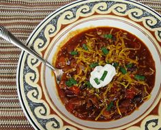 Sweet and Tangy Chili Recipe - thank you Debbi Does Dinner!