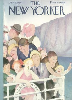 The New Yorker - Saturday, July 21, 1934 - Issue # 492 - Vol. 10 - N° 23 - Cover by : William Cotton