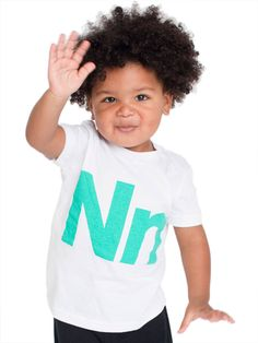 Must have Kids Shirt: American Apparel's Helvetica Alphabet Fine Jersey Short Sleeve T