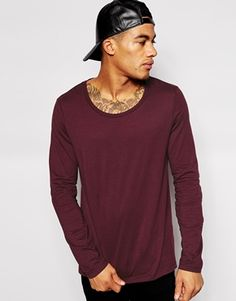 ASOS Long Sleeve T-Shirt With Scoop Neck