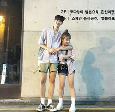 "Find and save images from the ""한 쌍"" collection by 'M E L I A (bbymelia) on We Heart It, your everyday app to get lost in what you love. Short Couples, Swag Couples, Cute Couples Goals, Couple Goals, Tall Boy Short Girl, Short Girls, Korean Couple, Best Couple, Best Friend Pictures"