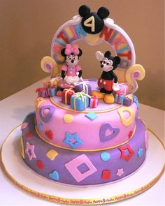 mickey and minnie mouse cake for birthday